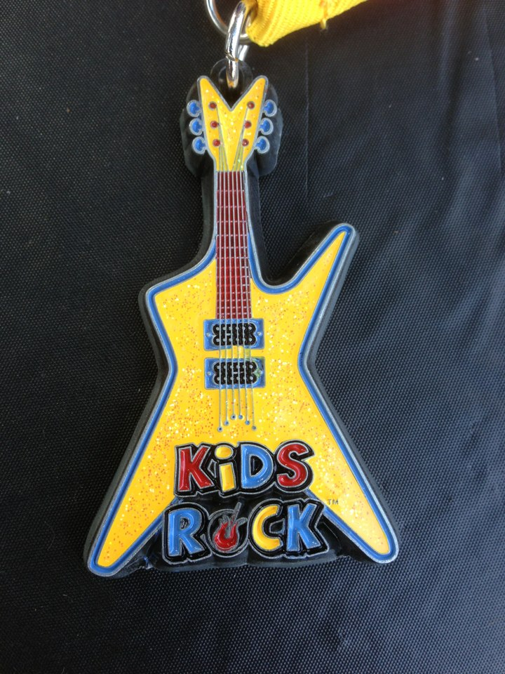 Kids Rock Medal ready to be engraved
