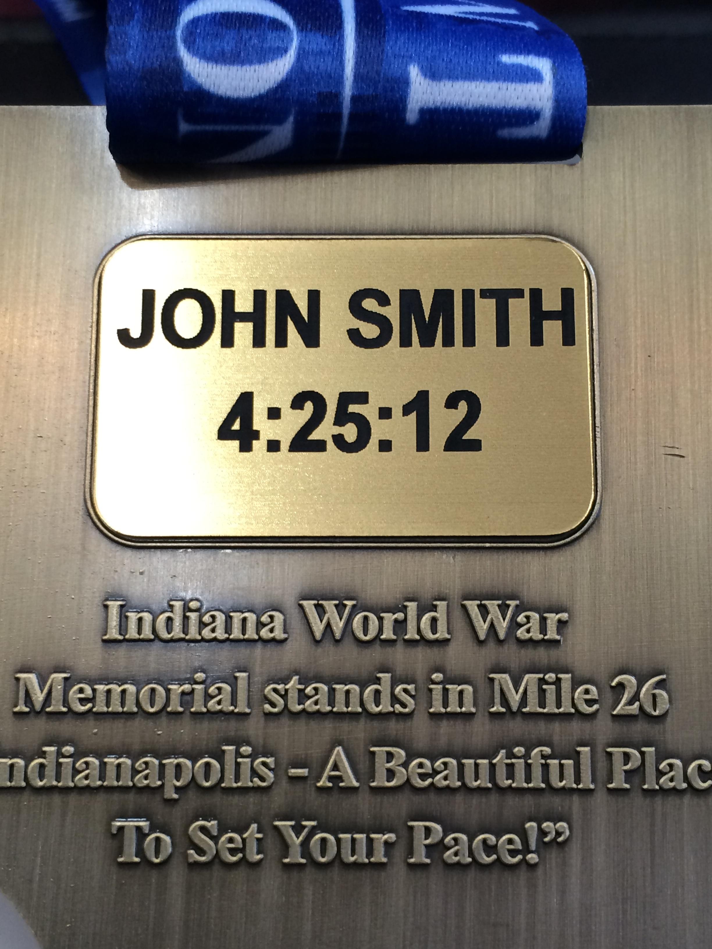 Indianapolis Monumental Marathon Etags