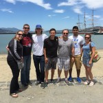 Team soaking up some sun in SF prior to the escape from Alcatraz triathlon