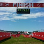 Finish line at the Escape from Alcatraz Triathlon